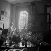 Matisse in his studio, Vence, 1946