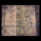A photograph of a London underground map