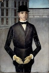 Anton Räderscheidt Young Man with Yellow Gloves 1921