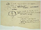 """Marcel Duchamp Note autographe pour """"Le grand verre"""" : la cravate devra son élégance…, 1912-1915"""