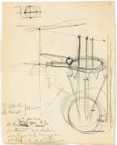 "Marcel Duchamp Note autographe pour ""Le grand verre"" : 1 l'intention, 2 la crainte, 3 le désir, 1912–68"