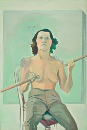 Maria Lassnig, Self-Portrait with Stick, 1971