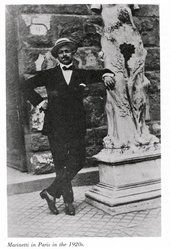 Filippo Tomaso Marinetti in Paris in the 1920s