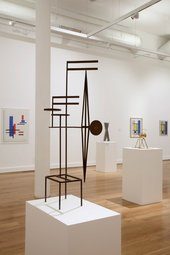 Marlow Moss display installation shot (Leeds Art Gallery)