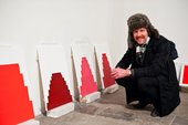 Martin Creed with Work No. 1102, Work No. 1103, Work No. 1104, Work No. 1105 2011 at Tate Liverpool