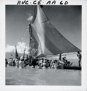 Maya Deren Photograph possibly of a boat ceremony for Agwe, taken on one of her visits to Haiti 1947–52