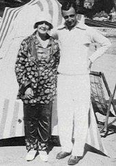 Melanie Klein and her son Hans in Brittany, summer 1930