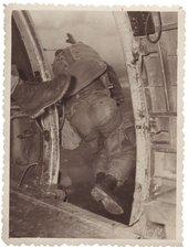 Paratrooper jumping, Second World War, US