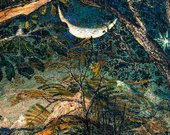 Detail of Samuel Palmer, A Hilly Scene c1826–8