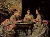 Before treatment: John Everett Millais, Hearts are Trumps