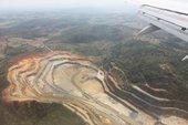 Mines seen from the flight into Belo Horizonte