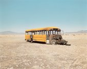 Richard Misrach, Personnel Carrier Painted to Simulate School Bus 1986