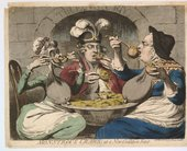 James Gillray Monstrous Craws, at a New Coalition Feast 1787