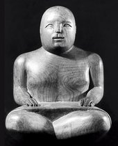 Ronald Moody Seated Sarong Figure 1938 beech, 27 x 18 x 14 cm