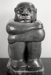 Ronald Moody The Onlooker 1958 teak, 65 x 32 x 38 cm