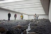 Olafur Eliasson's installation Riverbed at the Louisiana Museum, Humlebaek, Denmark, 2014
