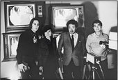 John Lennon Yoko Ono Nam June Paik and Shuya Abe at the Galeria Bonino New York 23 November 1971