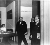Opening of the exhibition The New American Painting at the Tate Gallery, London, 1959