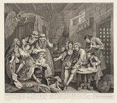 William Hogarth 'A Prison Scene', from A Rake's Progress (plate 7) 1735–63
