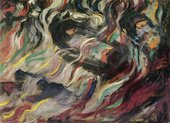 Umberto Boccioni States of Mind: The Farewells 1911 figures moving in swirls of colou