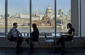 View of St Paul's Cathedral from the existing Tate Members' facilities at Tate Modern