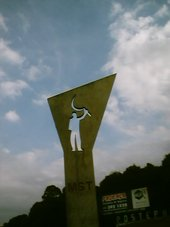 Monument by Oscar Niemeyer dedicated to the Landless Workers Movement (MST)