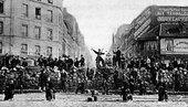 A barricade in the Paris Commune, March 18, 1871