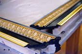 After completion of the water gilding on the inner profile of the frame