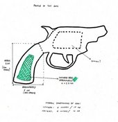 Donald Rodney, How the West Was Won, Likely size and shape of the toy gun