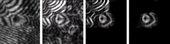 Laser holography images showing a fringe pattern