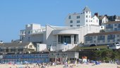 Tate St Ives from Porthmeor beach in summer