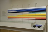 Colour and Line exhibition wall display