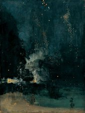 JM Whistler Nocturne in Black and Gold: The Falling Rocket 1875