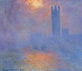 Claude Monet  Houses of Parliament: Effect of Sunlight in the Fog