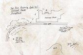 John Deedham Map, showing location of Two Piece Reclining Figure No.5 1963–4
