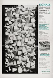 Front cover of Signals: Newsbulletin of the Centre of Advanced Creative Study Vol.1, No.5, December 1964 – January 1965