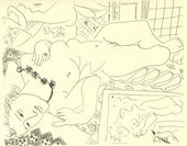 Henri Matisse Reclining Nude in the Studio 1935