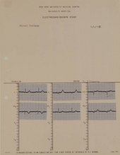 Brian O'Doherty Portrait of Marcel Duchamp: Mounted Cardiogram 4/4/66 1966