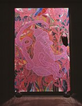 Chris Ofili Mono Rosa 1999-2002, mixed media painting