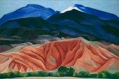 Georgia O'Keeffe Black Mesa Mountian Painting