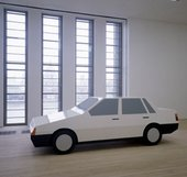 Julian Opie You Are in a Car (Volvo 440) 1996 Painted wood