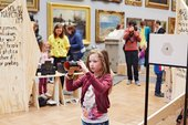 A school group at the We Forgot the Lot! workshop, Tate Britain 2014
