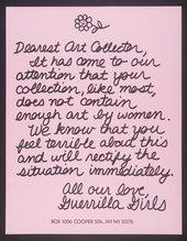 Guerrilla Girls, Dearest Art Collector 1986