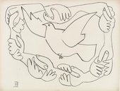 Pablo Picasso Hands Entwined III