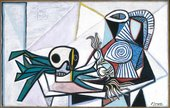 Pablo Picasso Still Life with Skull, Leeks and Pitcher 14 March 1945