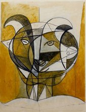 Pablo Picasso Tete de Faune Gris