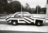 Patricia van Lubeck Opel Kadett painted in dazzle design 1990