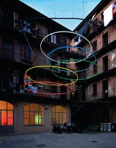 Patrick Tuttofuoco Olympic 2005 Installed in a Milanese courtyard