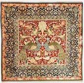 Peacock and bird carpet c.1800s