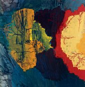 Per Kirkeby Nikopeja II 1996 abstract painting of a landscape